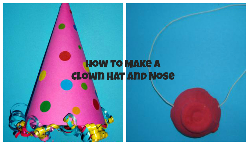 How to make a clown hat and a clown nose momstown national for Clown hat template