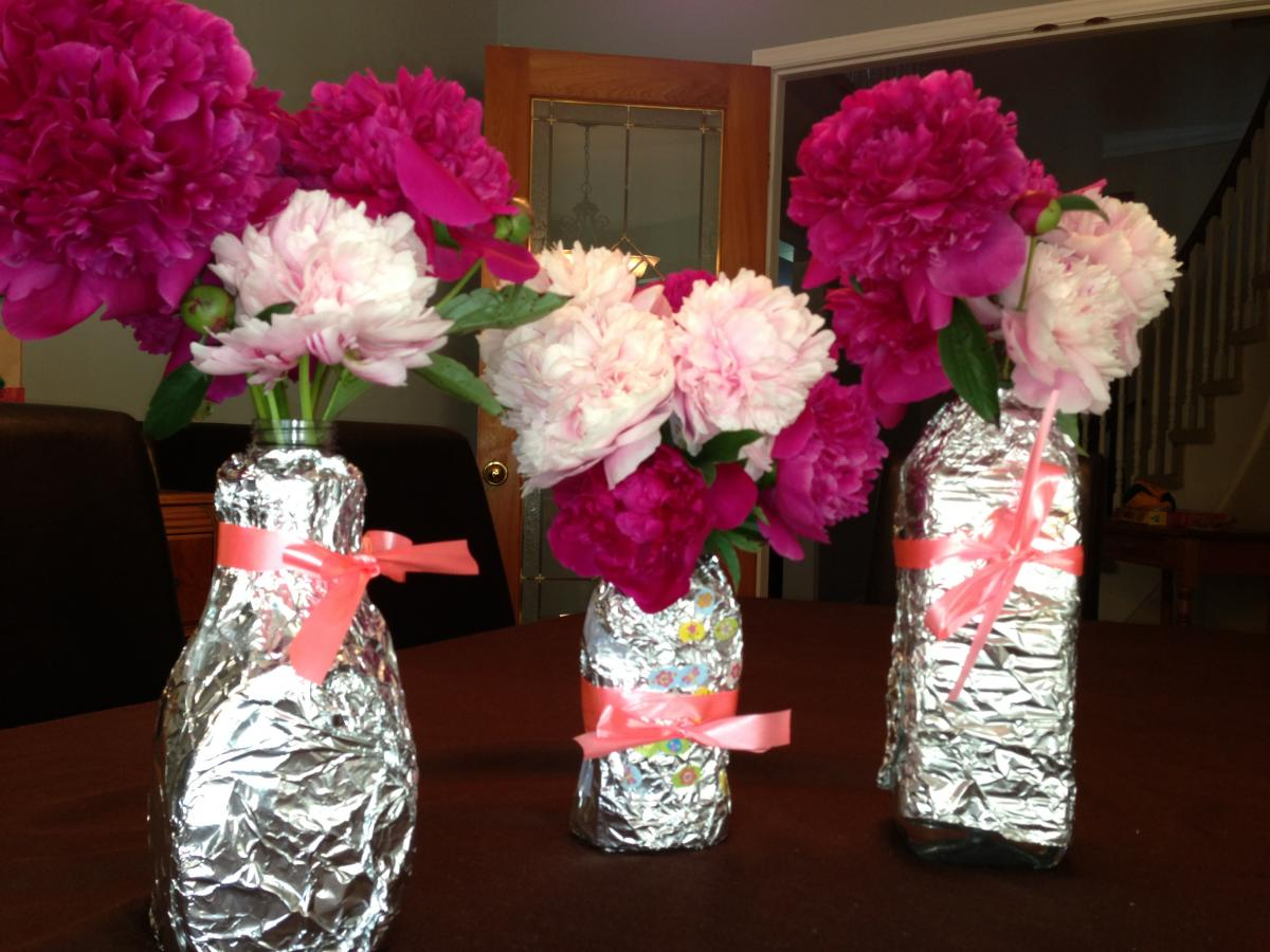 recycled container vase craft