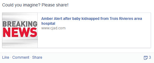 social media saved the kidnapped baby