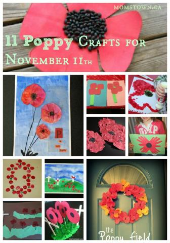 11 poppy crafts for Nov 11