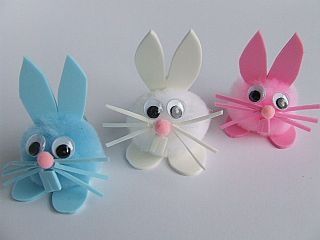 cotton ball bunny craft