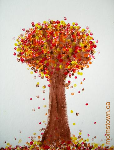 Pointilism For Preschoolers Seurat Inspired Fall Trees