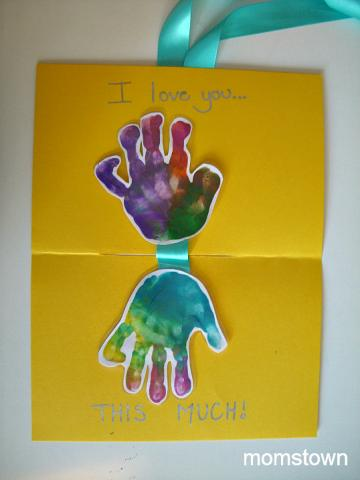 I Love You This Much Toddler Made Fathers Day Card And Keepsake