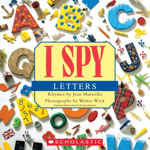 book review i spy letters from scholastic With i spy letters book