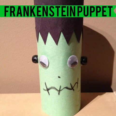 Frankenstein toilet paper roll puppet for Toilet roll puppets