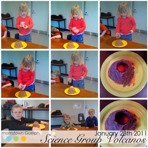 volcano craft for kids