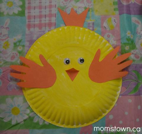 Farm Animal Crafts Handprint Chicks