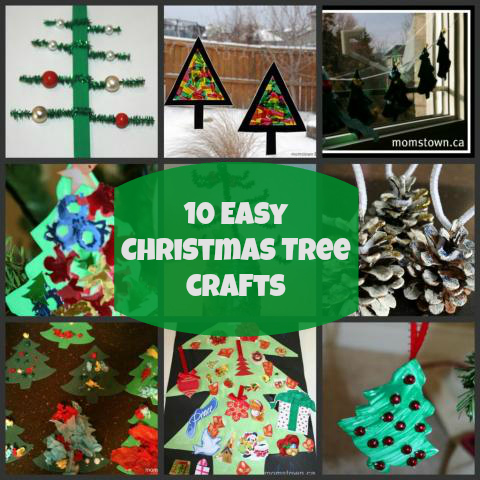 10 Easy Christmas Tree Crafts