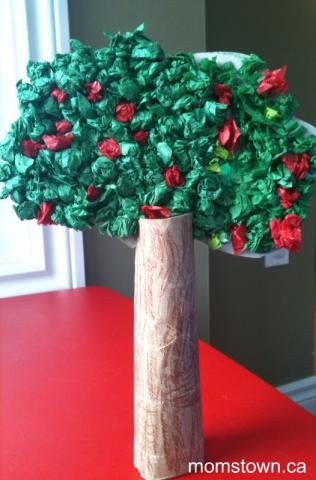 3 ways to make apple trees with a toilet roll for How to make a tree out of toilet paper rolls