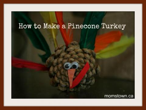 how to make a turkey from a pinecone, turkey crafts for kids
