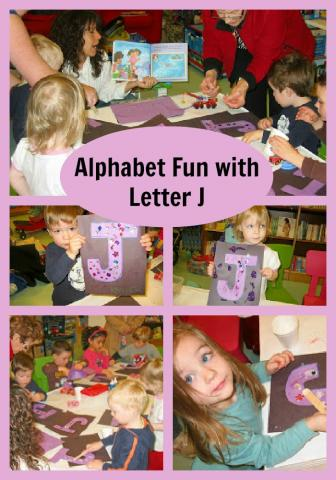 alphabet craft with letter J