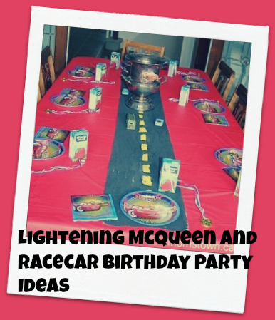 racecar, lightening mcqueen birthday party ideas