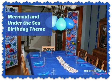mermaid and under the sea birthday party