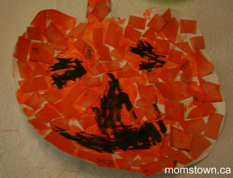 mosaic pumpkin craft