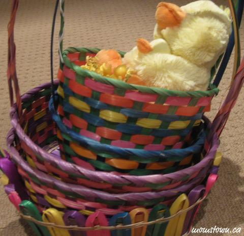 nesting practice with baskets