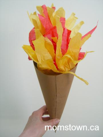 Easy Olympic Torch Craft