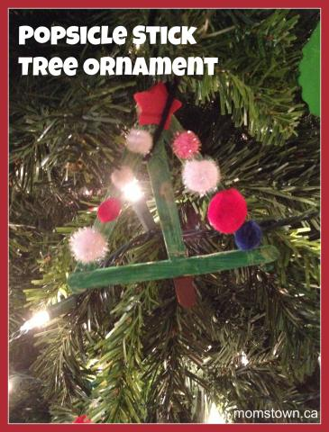 Popsicle Stick Christmas Tree Ornaments.Popsicle Stick Christmas Tree Ornament