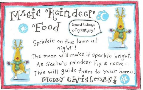 It is a graphic of Ridiculous Magic Reindeer Food Printable