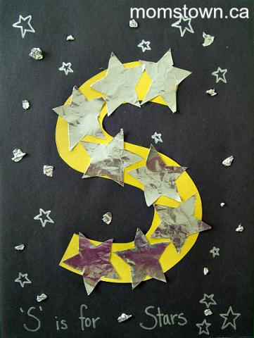 Alphabet craft s is for star for Letter k crafts for toddlers