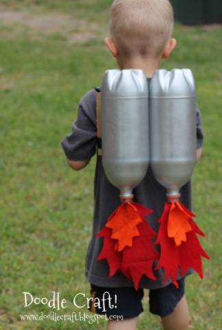 learning about space, making a jet pack