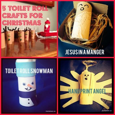 5 Toilet Roll Crafts for Christmas