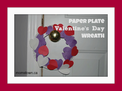 paper plate wreath for Valentine's Day