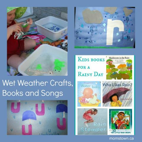 wet weather crafts for kids