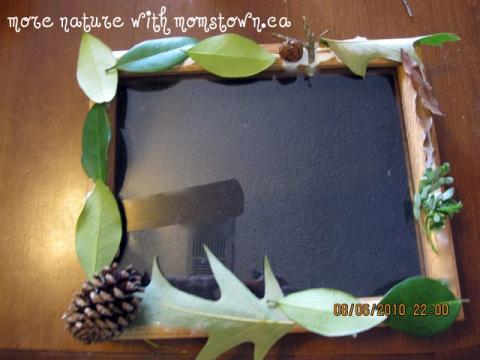 Camping themed photo frame