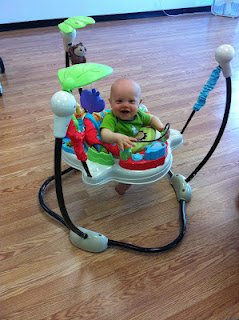5dc2b1d17 Fisher Price Luv U Zoo Jumperoo has momstown babies bouncing with joy!