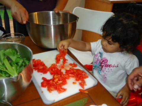 cooking with kids, easy chili