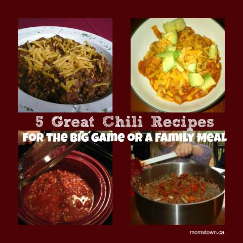 5 Easy Chili Recipes