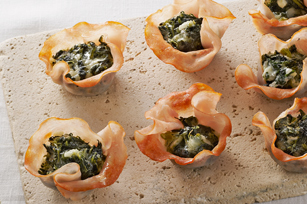 mini florentine cups, holiday appetizers from momstown