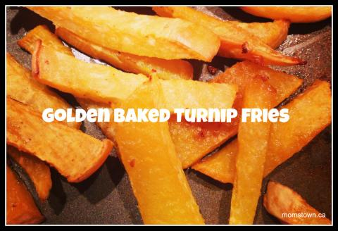 Golden Baked Turnip Fries