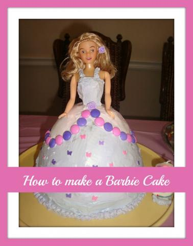 how to make a barbie or doll cake at home