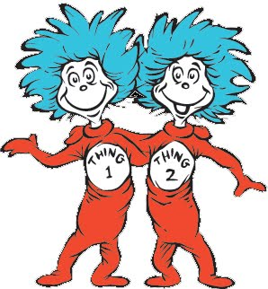 Dr. Seuss thing 1 and thing 2 photo craft